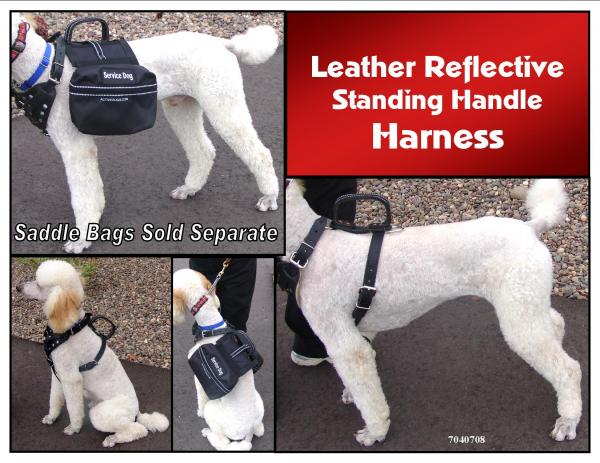 Reflective Leather Dog Harness