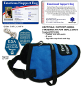 Standard Small Emotional Support Dog Vest Starter Kit