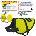 Standard Small Therapy Dog Vest Starter Kit