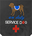 Embroidered Bandanna - On Duty Service Dog