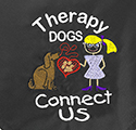 Embroidered Bandanna - Therapy Dogs Connect Us