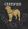 Embroidered Bandanna Certified Service Dog