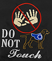 Embroidered Bandanna - Do Not Touch