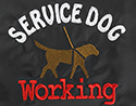 Embroidered Bandanna - Service Dog Working