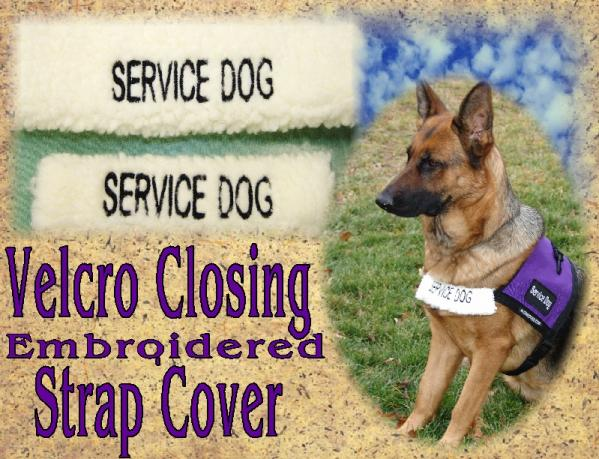 Service Dog Vest Strap Cover