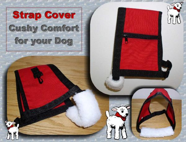 Service Dog Vest Strap Cover, Therapy Dog Vest Strap Cover