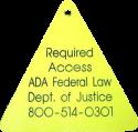 Working Service Dog Triangle ID Tag