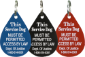 Engraved Acrylic Service Dog Access Tag
