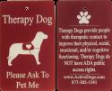 Engraved Aluminum Dog Service ID Badge