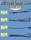 Adjustable Length Relective Leash