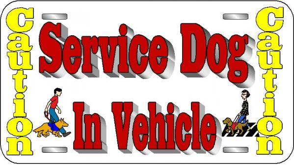 Service Dog License Plate