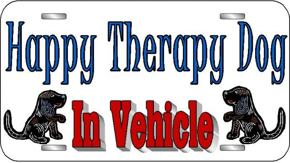 Therapy Dog License Plate