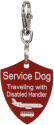 Service Dog Engraved Travel Tag
