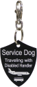Engraved Service Dog Travel Identification Tag