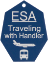 Engravaed ESA Travel ID Tag
