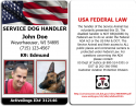 Service Dog Handler ID