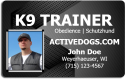 K9 Trainer ID Badge
