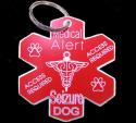 Medical Alert Seizure Dog Tag