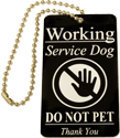 Chained Working Service Dog ID Tag