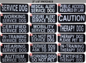 Reflective Patches For Service and Therapy Dog Vest