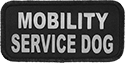 Reflective Service Hearing and Mobility Dog Patches