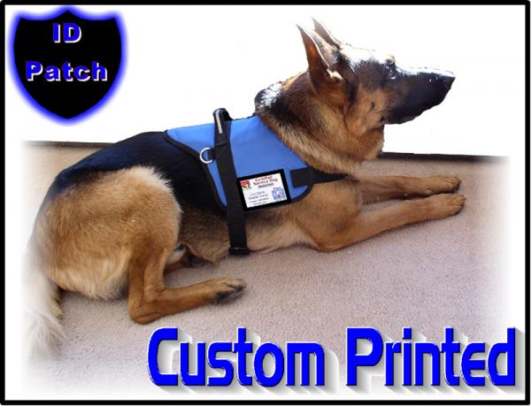 Dog Vest Patches Custom Dog id Patch
