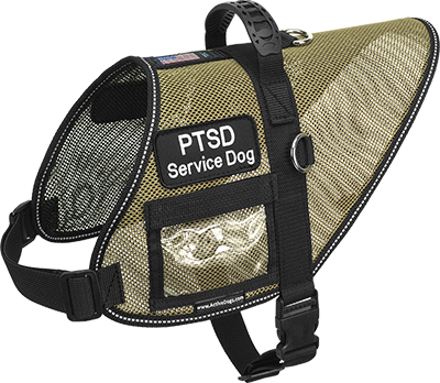 Mesh Service Dog Vest With Handle
