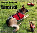 Two-part Back Pack Harness Vest