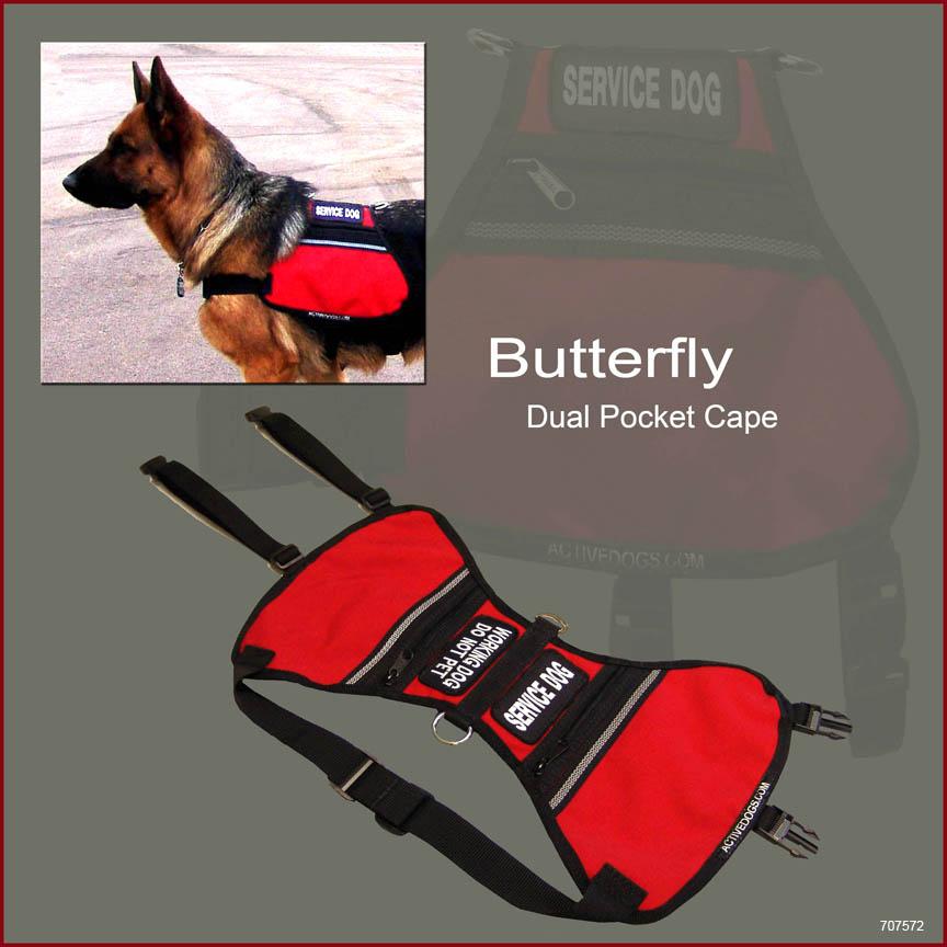 service dog vest with pocket