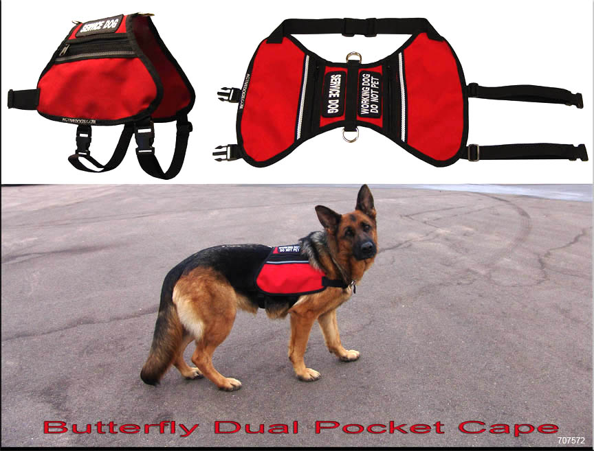 Service Dog Cape With Pockets
