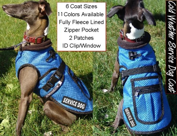Small Cold Weather Service Dog Coat