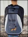 Embroidered Dog Portrait BackPack
