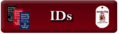 Service / Therpay Dog IDs
