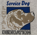 Embroidered Service Dog Hoodie
