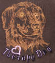 Embroidered Therapy Dog Hoodie