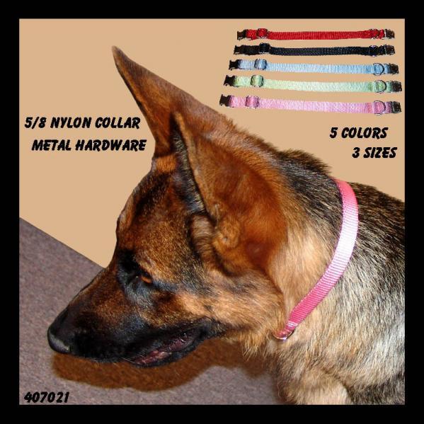 """Nylon Dog Collar 5/8"""""""
