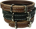 Stitched 2 Layer Leather Dog Collar