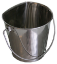 Stainless Steel Flat Sided Pail