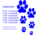 Dog Paw Print Decals