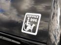 4-Inch Service Dog Vinyl Decals