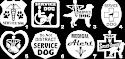4-inch Vinyl Service Dog Decals