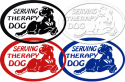 Therapy Dog Vinyl Decals