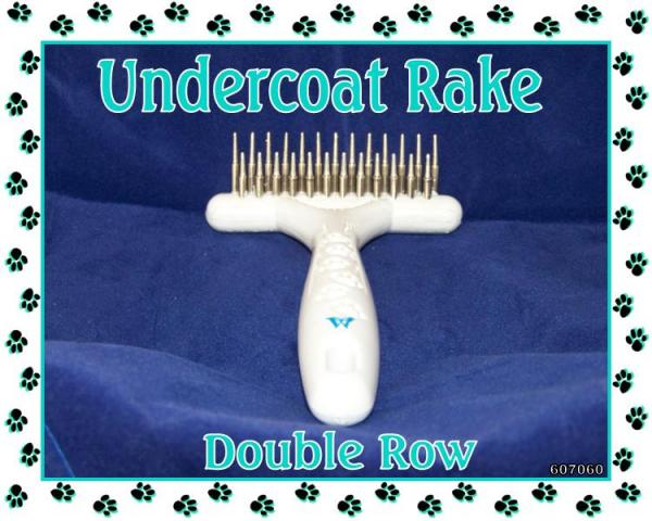 Dog Grooming Double Row Undercoat Rake