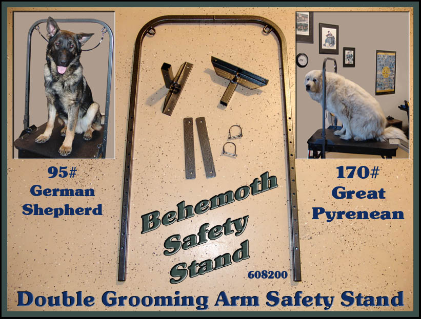 grooming double arm stand
