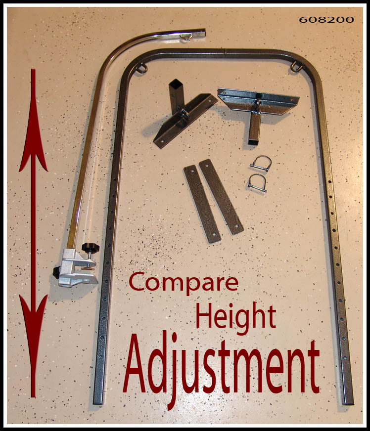 hardware for double grooming arm safety stand