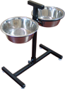 Adjustable Double Diner Dog Food Bowl