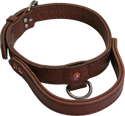 Leather Agitation Dog Collar with Handle
