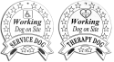 Engraved Therapy or Service Dog Sign