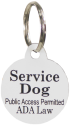 Small Dog Engraved ID Plastic Tag