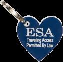 Small Dog Engraved ID Tag ESA
